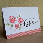 Round Roses – a set of three notecards