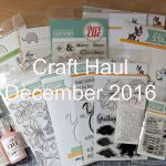 VIDEO – Cardmaking Haul – December 2016