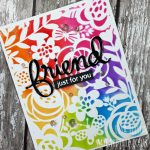 Friend, Just A Note – Distress Inks & Texture Paste
