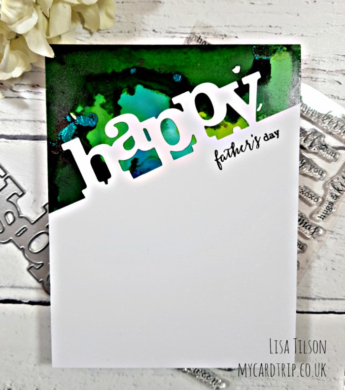 Alcohol Inks and Foil – Happy Father's Day