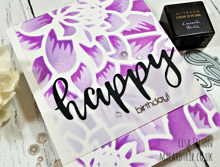 Stencil Layering – Happy Birthday!